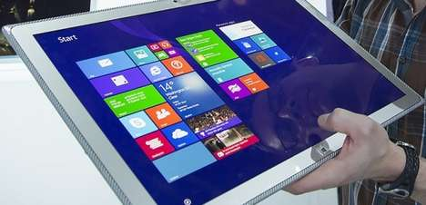 Massive Optimizing Tablets - The New Panasonic 4K Tablet Was Unveiled at 2014 CES