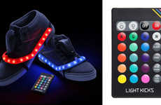 Remote-Controlled Illuminating Sneakers