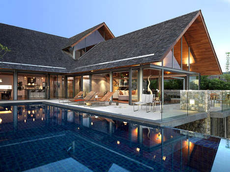 Leisurely Tranquil Thai Estates - The Samsara 5 House Encapsulates Thai Luxury