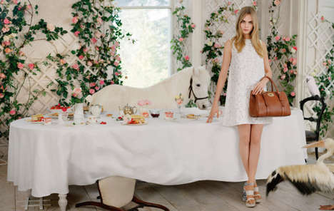 Fanciful English Tea Editorials - The Mulberry Spring/Summer 2014 Campaign is Full of Whimsy