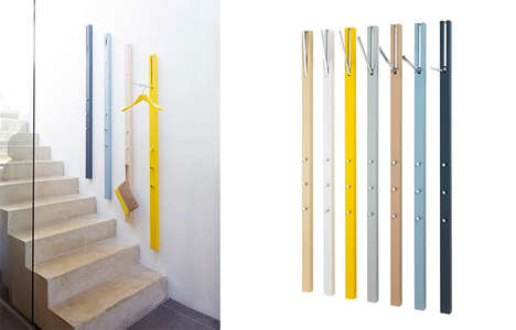 Wall-Mounted Storage Stands - The Line Coatrack Has No Footprint and Promises to Declutter Your Home