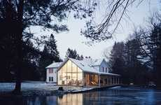 Floating Creekside Farmhouses