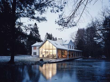 Floating Creekside Farmhouses - Tom Givone Restores a 19th Century Farmhouse to its Former Grandeur