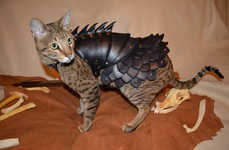 This Armored Cat Costume is Made of Leather