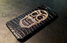 Glamorous Golden Skull Smartphones
