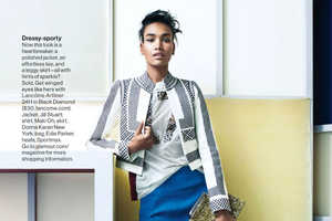 Chad Pitman Captures Arlenis Sosa for Glamour US February 2014