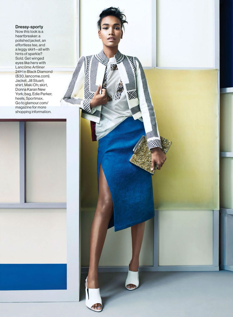 Geometric Skirt Editorials