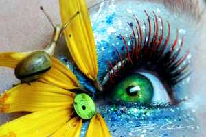PixieCold's Eye Makeup Turns Lashes into Leaves, Feathers and Wings