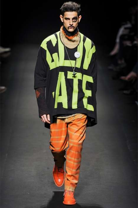 Eclectic Brawling Menswear - Vivienne Westwood Fall/Winter 2014 Menswear Fights for Climate Change