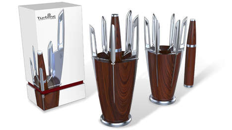 Sleekly Designed Kitchen Knives - Trurbine USA Premium Knives are Taking on a Brave New Form