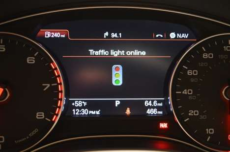 Red Light-Predicting Cars - Audi Traffic Light Assist Brings Safety to CES 2014