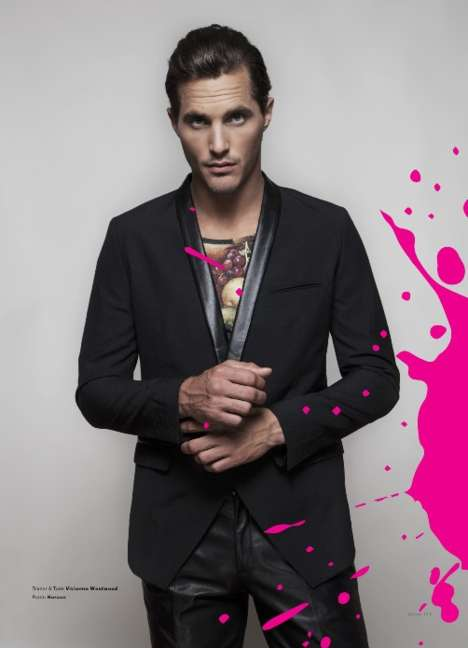 Color-Splashed Men's Shoots - Joseph Sinclair Captures Ollie Edwards for ADON #6