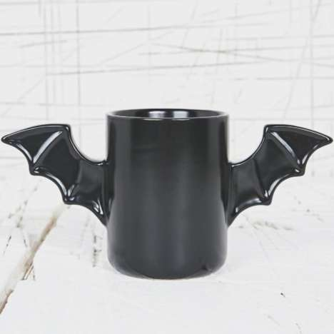 Winged Crime-Fighter Mugs - The Bat Mug Lets You Drink Coffee Just Like Superheroes Do