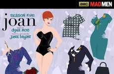 Retro TV Show Toys - The Mad Men Paper Dolls by Dyna Moe Involve Joan Harris and Megan Draper