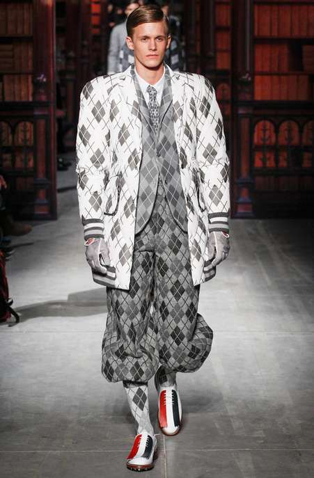 Heavily Patterned Sporty Fashions - Moncler Gamme Bleu Fall/Winter 2014 is Overloaded with Argyle