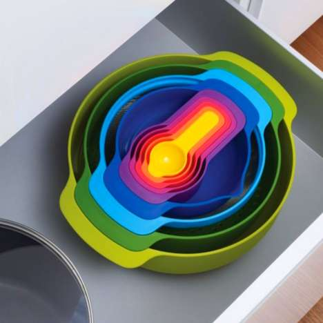 Rainbow Stacked Kitchen Aids - Make Food Prep More Fun with This Cooking Set from Joseph Joseph
