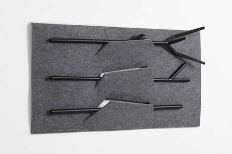Branching Fireplace Tools - OKSA by Felicie Eymard Brings a Campfire Feel Inside the Home