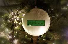 Social Media Christmas Ornaments - The Tweetball by Gelotology is Connected to Twitter