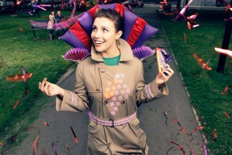 Chocolate-Reacting Clothing - The Cadbury Joy Jacket Lights Up When Wearer Eats Chocolate