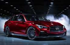 Muscular Swank Speed Racers - The Infiniti Q50 Eau Rouge Speeds into the Detroit Auto Show 2014