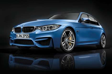 Polished Powerful Sedans - The 2015 BMW M3 Makes a Big Splash at the 2014 Detroit Auto Show