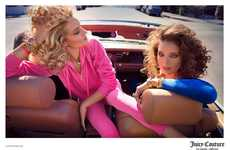 Vibrant Road Trip Fashion Ads - The Juicy Couture SS14 Campaign Stars Models Rosie and Emily
