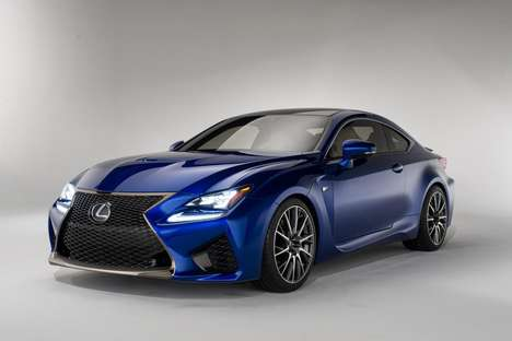 Wide Grilled Sporty Sedans - The 2015 Lexus RC F Coupe Launched at the Detroit Auto Show 2014