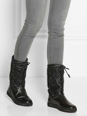 Spiked Winter Soles - This Christian Louboutin Boot is Adorned with Spikes