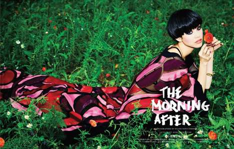 Edgily Vibrant Editorials - The Vogue Japan