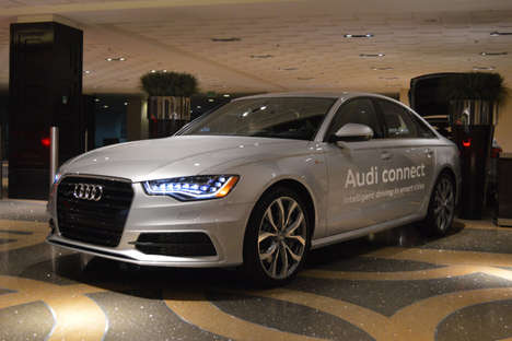 Traffic Light-Detecting Software - Avoid Red Lights with the Audi Smart City System at CES 2014