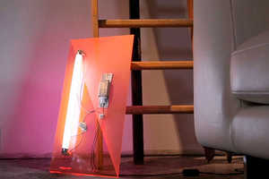 The 003.5 Light Object Frames its Electrical Components on Acrylic