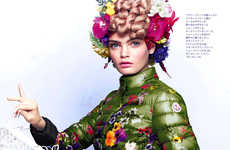 Botanical Bonnet-Infused Editorials