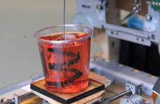 3D Printed Drink Decorations - This 3D Printer Spikes Jello Shots with Creative Designs