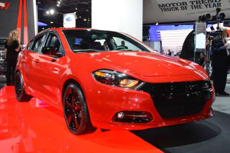 Blacked-Out Car Exteriors - The 2014 Dodge Dart Blacktop Debuted at the Detroit Auto Show 2014&#8207