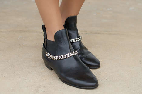 DIY Shoe Embellishments - These DIY Chain Boots are the Perfect Inspiration to Update Your Wardrobe