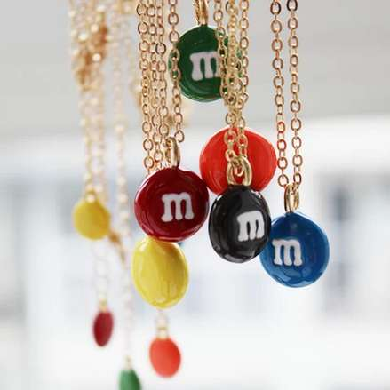 Scrumptious Confectionery Necklaces - The M&Ms Chocolate Necklace is Sure to Please Chocolate Lovers