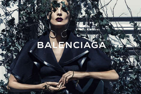 Mysteriously Vine-Covered Models - The Balenciaga Spring 2014 Campaign Stars Daria Werbowy
