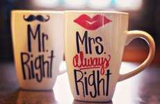 Humorous Couple Coffee Cups - Know Who's Right in Every Fight with These Hilarious Couple Mugs