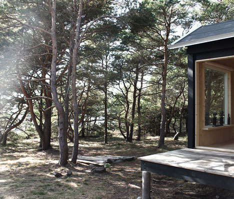 Minimalist Wooden Cabins - The Ermitage Cabin is a Minimalist Retreat into Swedish Nature