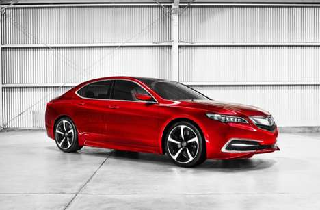 Jewel-Inspired Concept Cars - The New 2015 Acura TLX Concept Was Unveiled at 2014 NAIAS