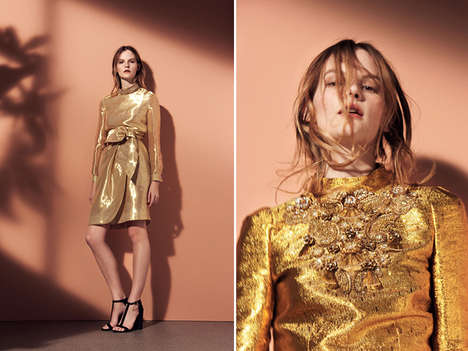 Bronzed-Fall Fashions - The Issa Pre-Fall 2014 Collection Bids Farewell to Summer