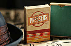 Vintage Ad Agency Cards - The Pressers Playing Cards Will Keep Your Card Games Classy
