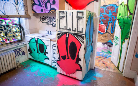 Abandoned Building Art Exhibits - This Modern Building Art Proves Things Look Better with Graffiti