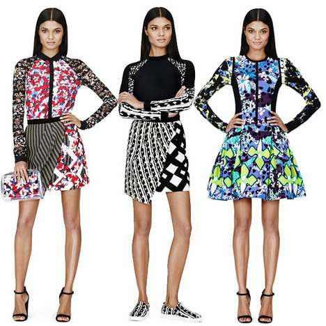Clashing Colorful Collaborative Lookbooks - The Peter Pilotto Target Lookbook Debuts the New Set