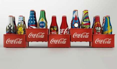 Miniature Interactive Soda Bottles - The New Coca-Cola 2014 FIFA Special Edition Bottles are Tiny