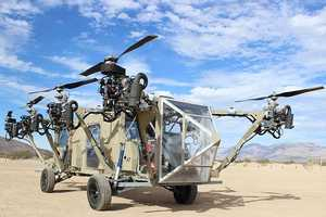 The Black Night Transformer is an Unmanned Helicopter Truck