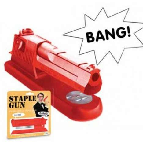 Militarized Office Weaponry Staplers - With the Staple Gun Stapler You Are
