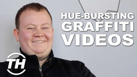 Hue-Bursting Graffiti Videos - Ivan Discusses His Interest in Graffiti with Exploding Colors
