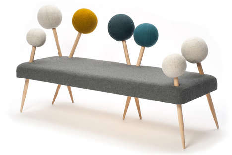 Playfully Pinned Couches - The Pinsofa 1 by Demeter Fogarasi is Made with Seamstresses in Mind