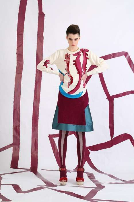 Childlike Sophisticated Fashion - The Tsumori Chisato Pre-Fall 2014 Line Embodies Eastern Europe